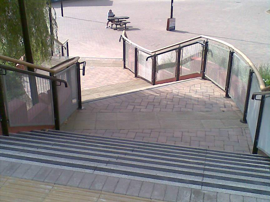 St James Barton Roundabout, External Public Stairs