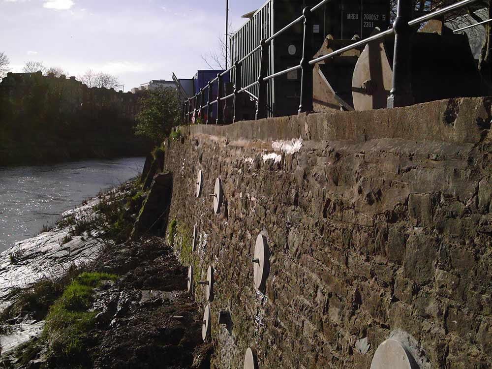 River Wall - Clarence Road, Bristol